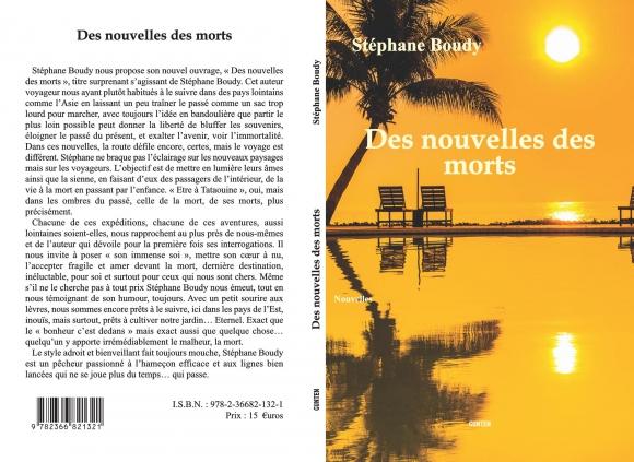 Stephane Boudy, Auteur, Rentrée littéraire, Editions Gunten, Des nouvelles des morts